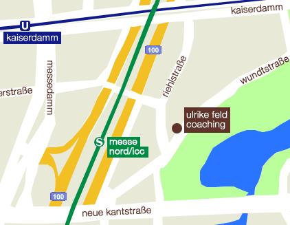 Anfahrtsskizze Ulrike Feld